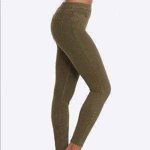 SPANX Jean-ish Legging Jeans Olive Size Large
